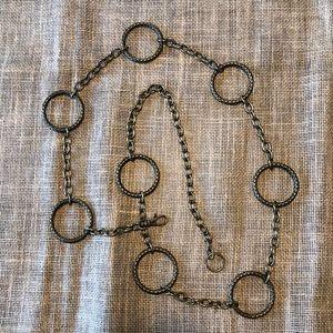 Bohemian Metallic Circles Chain link Belt